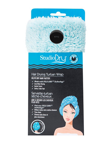 Upper Canada Soap And Candle Co Studio Dry Turban Hair Towel-BLUE-One Size