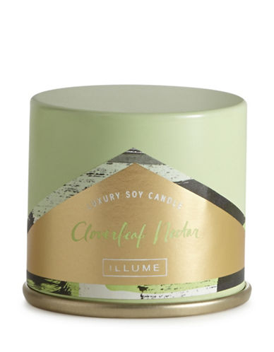 Illume Cloverleaf Nectar Demi Vanity Tin Candle-GREEN-One Size