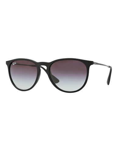 Ray-Ban Erika Round Sunglasses-RUBBER BLACK (622/8G)-54 mm
