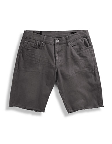 William Rast Bermuda Denim Shorts-CHARCOAL-38