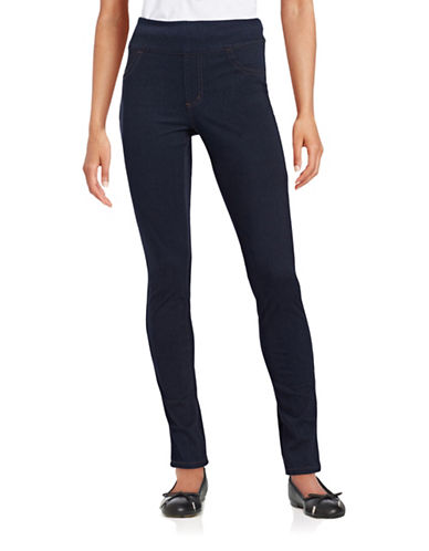 Edit By Jeanne Beker Slimming Stretch Jeggings-BLUE-4