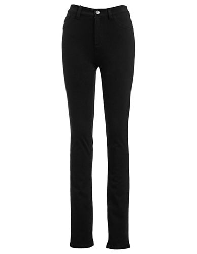 Edit By Jeanne Beker Stretch Denim Jeggings-BLACK-2