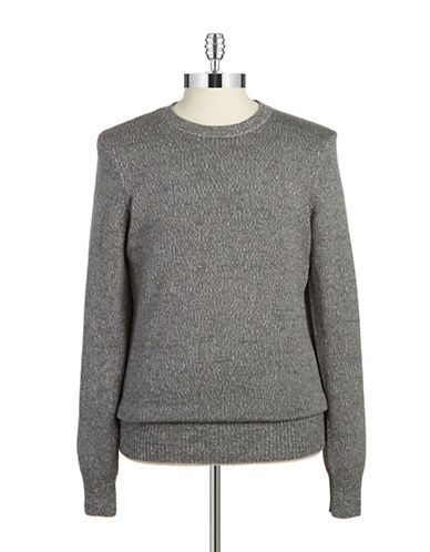 William Rast Marled Knit Sweater-GREY-X-Large 87977301_GREY_X-Large
