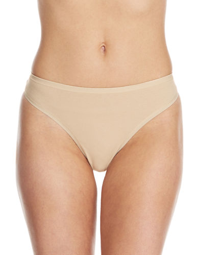 Lord & Taylor Thong with Pearl Edge Elastic-NUDE-Small
