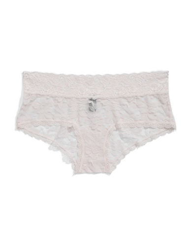 Lord & Taylor Stretch Lace Hipster Briefs-LIGHT PINK-X-Large