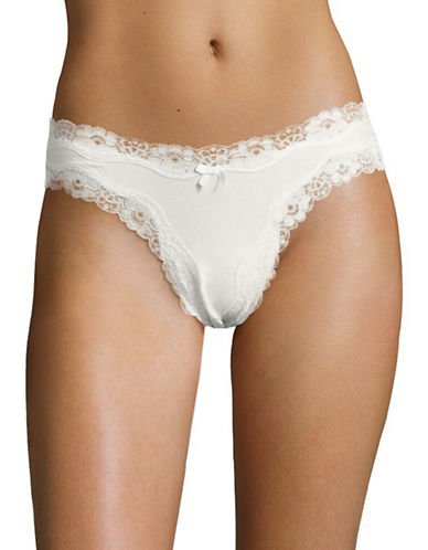 Lord & Taylor Cheeky Lace Panties-ERGET-Small