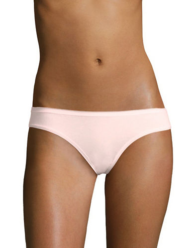 Lord & Taylor Stretch Cotton Bikini Panties-SHRINKING VIOLET-Medium
