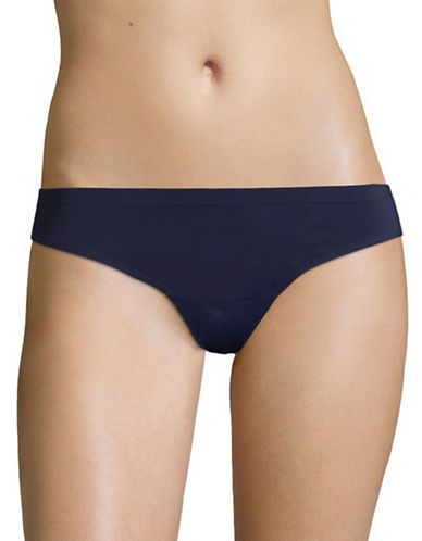 Lord & Taylor Laser-Cut Thong-BLUE-X-Large