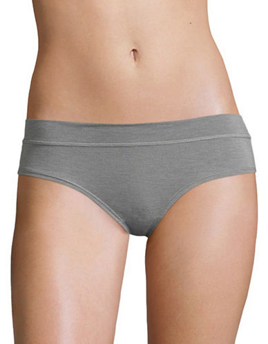 Lord & Taylor Soft Stretch Hipster-GREY-Small