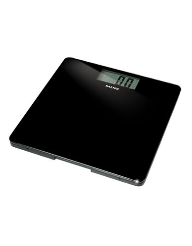 Springfield Salter Black Glass LCD Bath Scale-BLACK-One Size