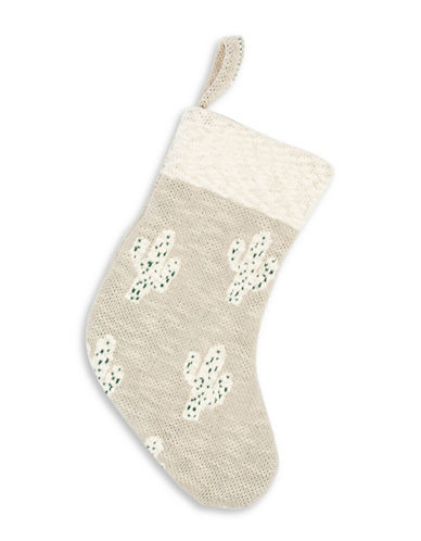 Drake General Store Cactus-Print Cotton Stocking-GREY-One Size