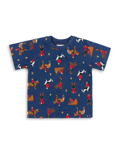Drake General Store Toddlers Arborist Cotton Tee-NAVY-18-24 Months