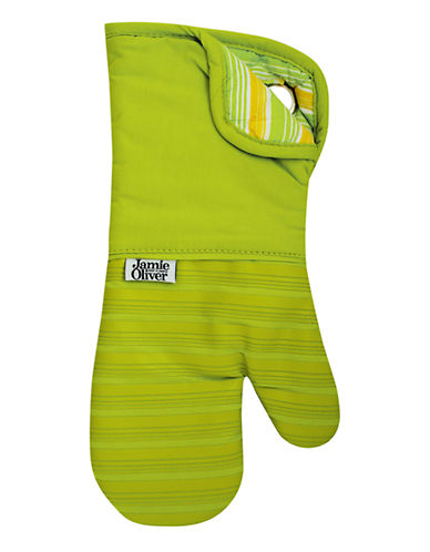 Jamie Oliver Oven Mitt with Silicone-GREEN-One Size