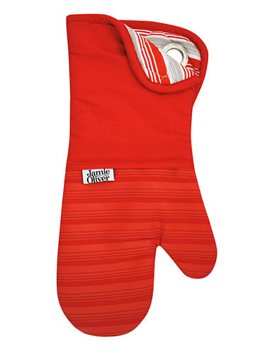 Jamie Oliver Oven Mitt with Silicone-BERRY-One Size