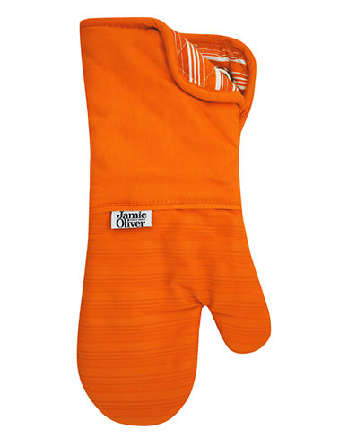 Jamie Oliver Oven Mitt with Silicone-ORANGE-One Size