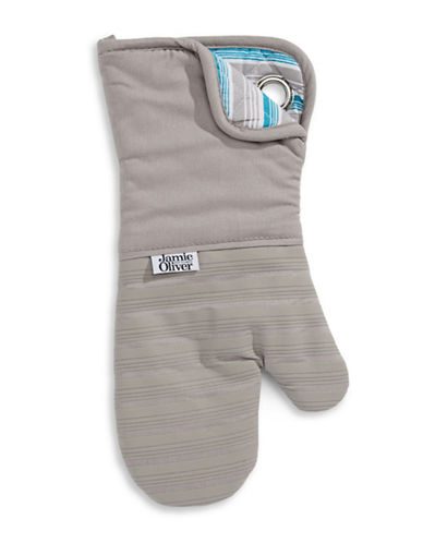 Jamie Oliver Oven Mitt with Silicone Grip-GREY-One Size