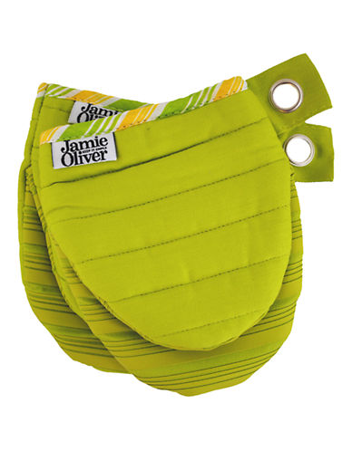 Jamie Oliver Mini Mitts with Silicone-GREEN-One Size