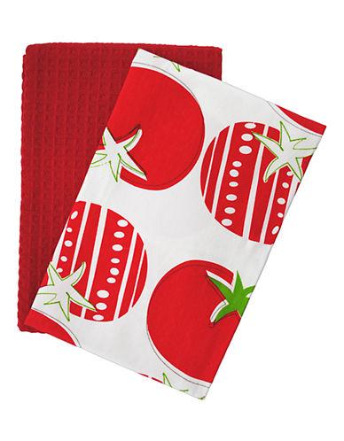 Jamie Oliver Set of 2 Tea Towels-RED-18x28