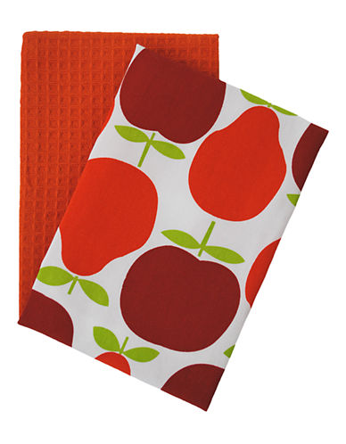 Jamie Oliver Set of 2 Tea Towels-ORANGE-18x28