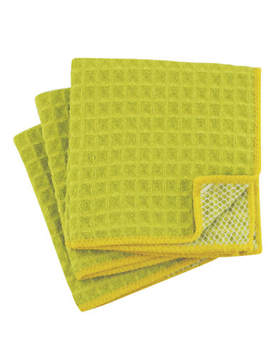 Jamie Oliver Set of 3 Microfiber Scrubbers-GREEN-One Size