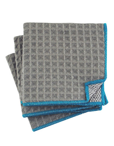 Jamie Oliver Set of 3 Microfiber Scrubbers-GREY-One Size