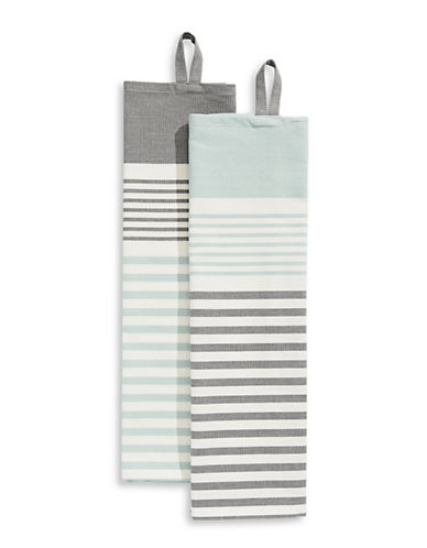 Jamie Oliver Two-Pack Striped Cotton Tea Towels-BLUE-One Size