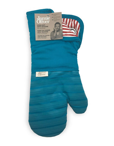 Jamie Oliver Oven Mitt with Silicone-BLUE-One Size