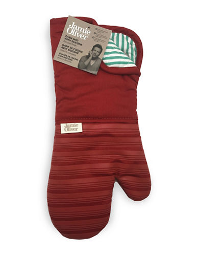 Jamie Oliver Oven Mitt with Silicone-RED-One Size