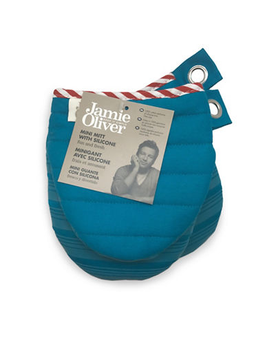 Jamie Oliver Mini Oven Mitt with Silicone-BLUE-One Size