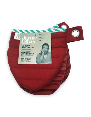 Jamie Oliver Mini Oven Mitt with Silicone-RED-One Size