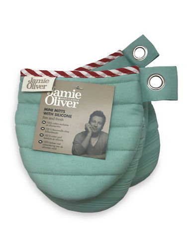 Jamie Oliver Mini Oven Mitt with Silicone-GREEN-One Size