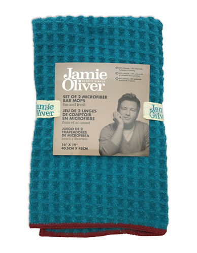 Jamie Oliver Two-Pack Microfibre Bar Mops-BLUE-16 x 19 Inches