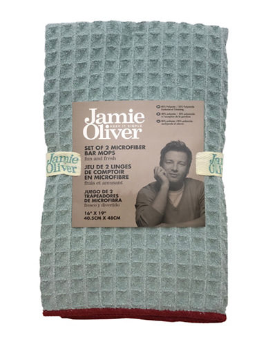 Jamie Oliver Two-Pack Microfibre Bar Mops-GREEN-16 x 19 Inches