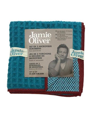 Jamie Oliver Waffle Microfiber Dishcloth Set-BLUE-One Size