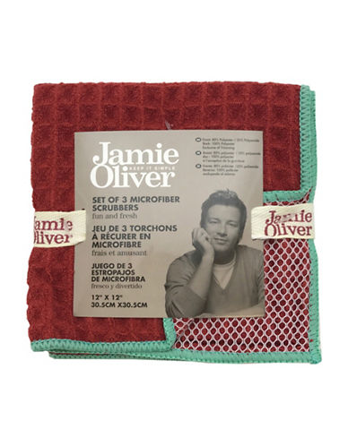 Jamie Oliver Waffle Microfiber Dishcloth Set-RED-One Size