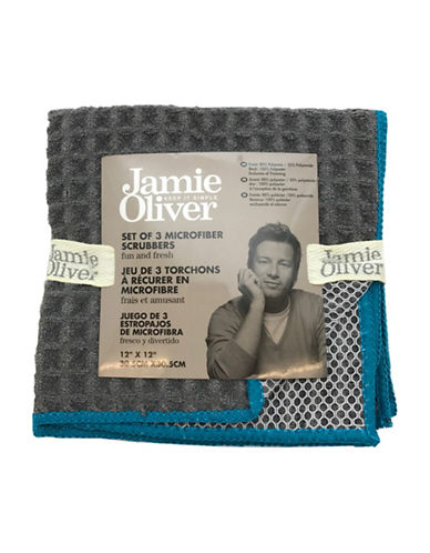 Jamie Oliver Waffle Microfiber Dishcloth Set-GREY-One Size