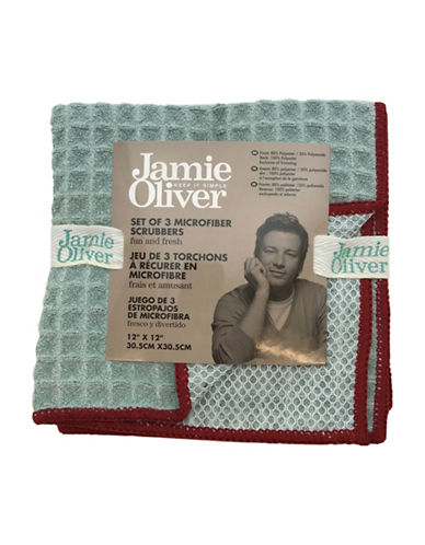 Jamie Oliver Waffle Microfiber Dishcloth Set-GREEN-One Size