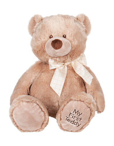 Ganz My First Teddy Plush Toy-TAN-One Size