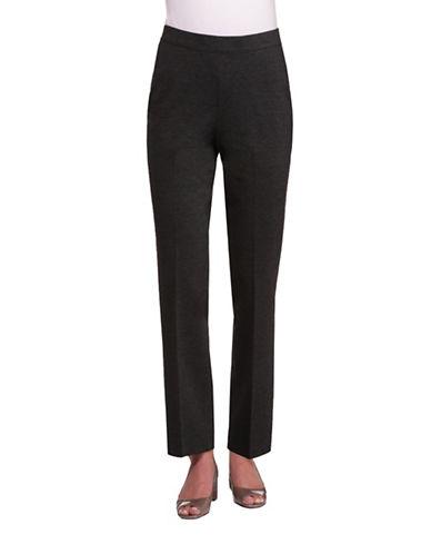 Allison Daley Straight Leg Ponte Pants-GREY-Small