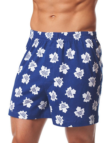 Joe Boxer Compressed Puck Canadian Boxers-BLUE-Small