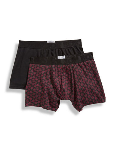 Joe Boxer Two Pack Check It Out Fitted Boxers-MULTI-COLOURED-Medium