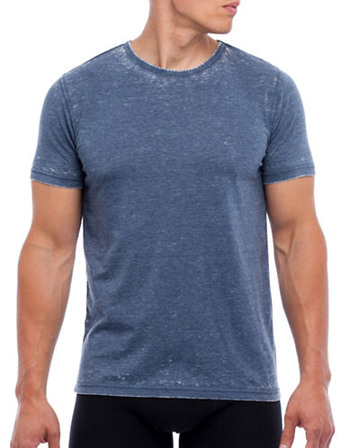 Joe Boxer Fitted Cotton Tshirt-NAVY-Large