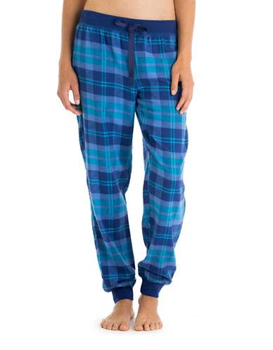 Joe Boxer Flannel Cuffed Pyjama Pants-BLUE-Large 88694024_BLUE_Large