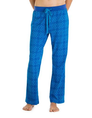 Joe Boxer Vibrant Printed Knit Pants-BLUE-X-Large 88479514_BLUE_X-Large