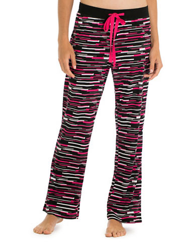 Joe Boxer Vibrant Printed Knit Pants-BLACK-Large 88694014_BLACK_Large