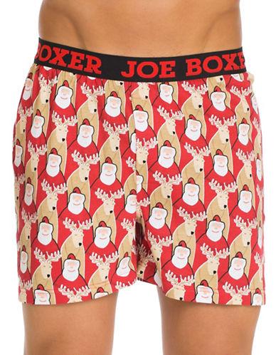 Joe Boxer Santas Best Friend Loose Boxers-MULTI-Small