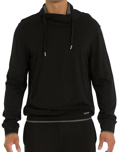 Joe Boxer Long Sleeve Hoodie-BLACK-X-Large 88709669_BLACK_X-Large
