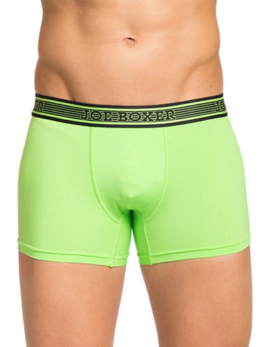 Joe Boxer Perforated Tech Fitted Boxers-GREEN-X-Large