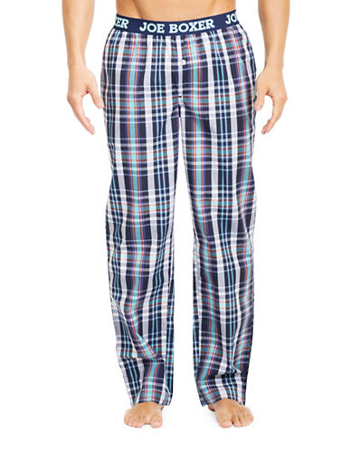 Joe Boxer Yarn-Dyed Poplin Pyjama Pants-PATIENT ZERO-Large