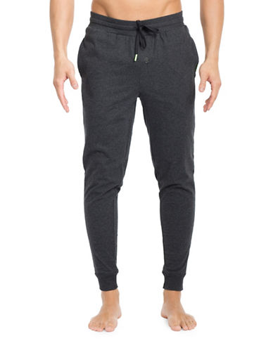 Joe Boxer Heathered Drawstring Jogger Pants-BLACK-Large 89159715_BLACK_Large